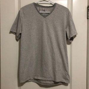Calvin Klein T-shirt White and Grey Stripe